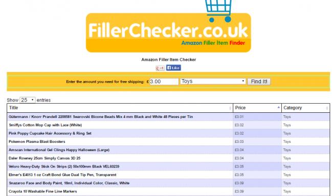 Amazon Filler Checker