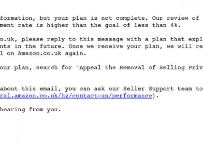 Amazon Account Suspension Email